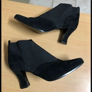 Anne Klein Ankle Boot ITALY Collection Black 8.5